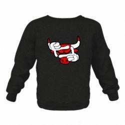 Детский реглан (свитшот) Chicago Bulls бык