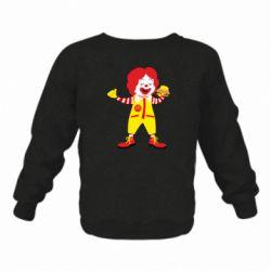 Дитячий реглан (світшот) Clown McDonald's