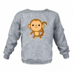 Дитячий реглан (світшот) Colored monkey