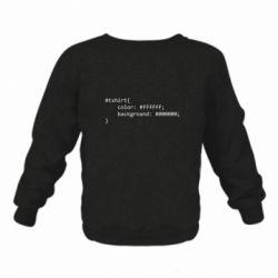 Дитячий реглан (світшот) Computer code for t-shirt