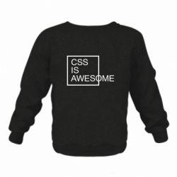 Дитячий реглан (світшот) CSS is awesome