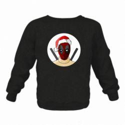 Детский реглан (свитшот) Deadpool in New Year's hat