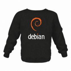 Детский реглан (свитшот) Debian