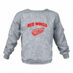 Детский реглан (свитшот) на флисе Detroit Red Wings