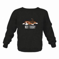 Детский реглан (свитшот) Dog not today