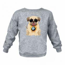Дитячий реглан (світшот) Dog with a collar BMW