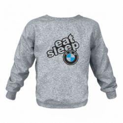 Дитячий реглан (світшот) Eat, sleep, BMW