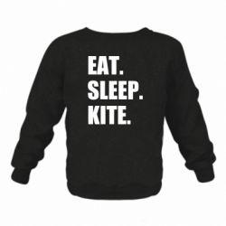 Дитячий реглан (світшот) Eat, sleep, kite