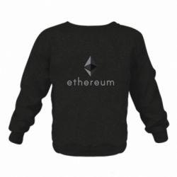 Детский реглан (свитшот) Ethereum