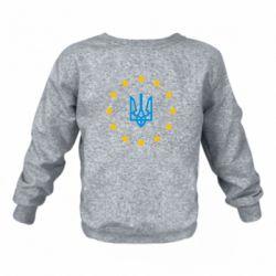 Детский реглан (свитшот) на флисе ЕвроУкраїна