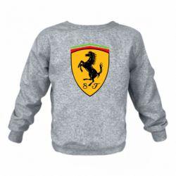Детский реглан (свитшот) на флисе Ferrari