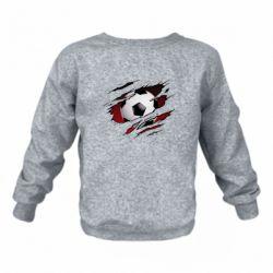 Дитячий реглан (світшот) Football ball  through the T-Shirt