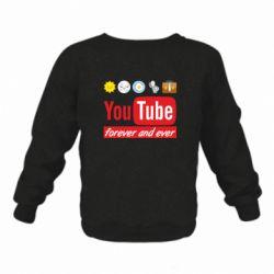 Дитячий реглан (світшот) Forever and ever emoji's life youtube