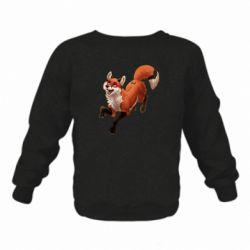 Детский реглан (свитшот) Fox in flight
