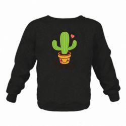 Дитячий реглан (світшот) Free Hugs Cactus