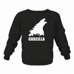 Детский реглан Godzilla and city - FatLine