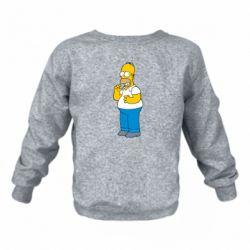 Детский реглан Гомер что-то затеял - FatLine