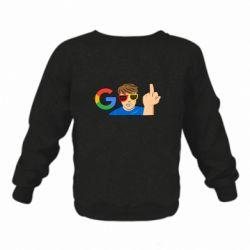 Дитячий реглан (світшот) Google guy Fuck You