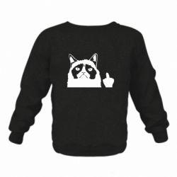Дитячий реглан (світшот) Grumpy cat F**k Off