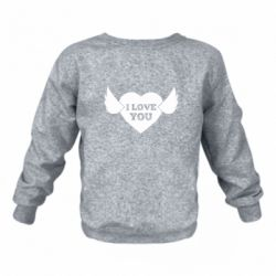 Дитячий реглан (світшот) Heart with wings