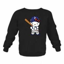Дитячий реглан (світшот) Hello Kitty baseball