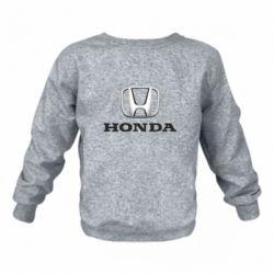 Детский реглан (свитшот) Honda 3D Logo