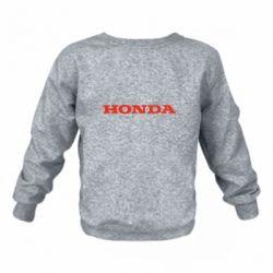 Дитячий реглан (світшот) Honda напис