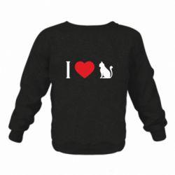 Дитячий реглан (світшот) I love cat