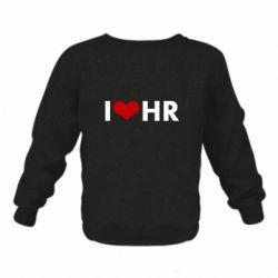 Детский реглан (свитшот) I love HR