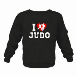 Детский реглан (свитшот) I love Judo