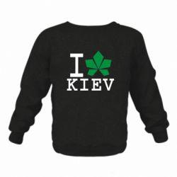 Детский реглан I love Kiev - с листиком - FatLine