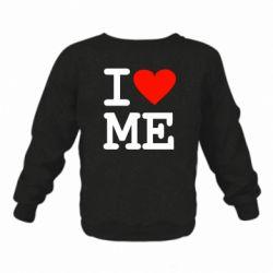 Дитячий реглан (світшот) I love ME