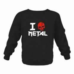 Детский реглан I love metal - FatLine