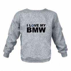 Дитячий реглан (світшот) I love my BMW
