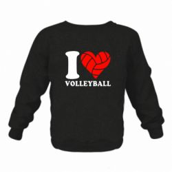 Дитячий реглан (світшот) I love volleyball