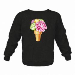 Дитячий реглан (світшот) Ice cream flowers