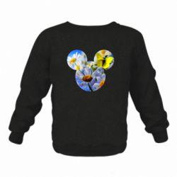Дитячий реглан (світшот) Inner world flowers mickey mouse
