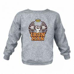Дитячий реглан (світшот) Iron man and sports