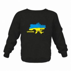 Детский реглан Карта України з написом Ukraine - FatLine