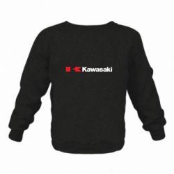Дитячий реглан (світшот) Kawasaki Logo