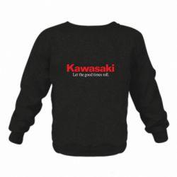 Дитячий реглан (світшот) Kawasaki. Let the good times roll.