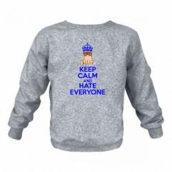 Детский реглан KEEP CALM and HATE EVERYONE - FatLine