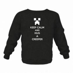 Детский реглан (свитшот) KEEP CALM and HUG A CREEPER