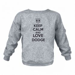 Детский реглан KEEP CALM AND LOVE DODGE - FatLine