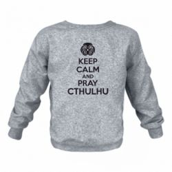 Детский реглан KEEP CALM AND PRAY CTHULHU - FatLine