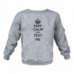Детский реглан KEEP CALM and TEXT ME - FatLine