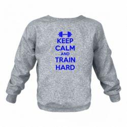 Детский реглан (свитшот) KEEP CALM and TRAIN HARD