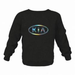 Детский реглан (свитшот) KIA logo Голограмма