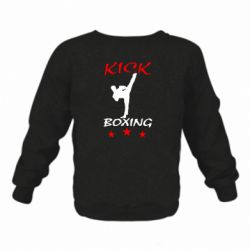 Дитячий реглан (світшот) на флісі Kickboxing Fight