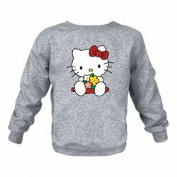 Детский реглан (свитшот) Kitty с букетиком